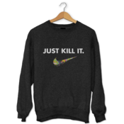 Just Kill It Acid Drip Check Sweatshirt